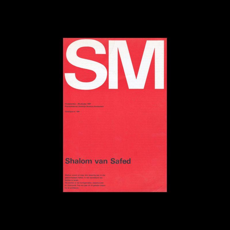 Shalom van Safed, Stedelijk Museum, Amsterdam, 1967 designed by Wim Crouwel