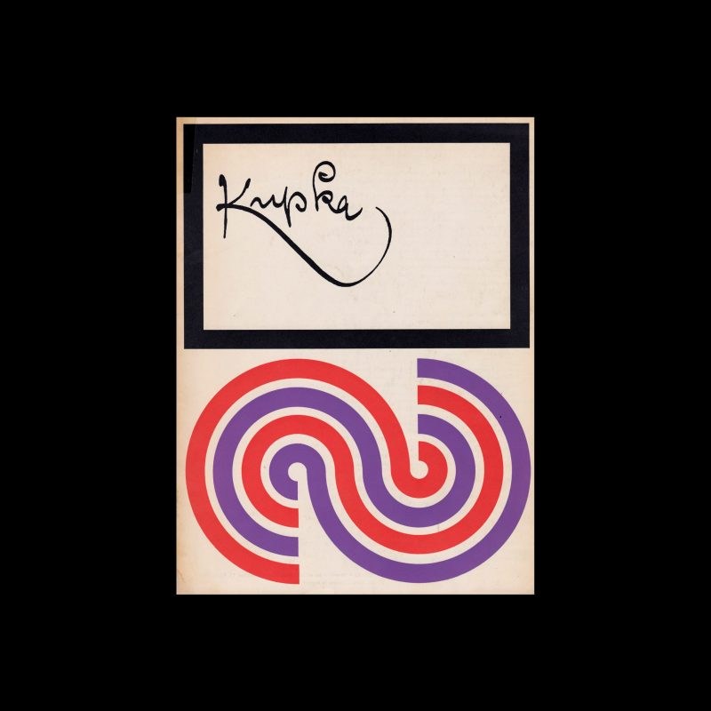 Kupka, Stedelijk Museum, Amsterdam, 1968 designed by Wim Crouwel (Total Design)