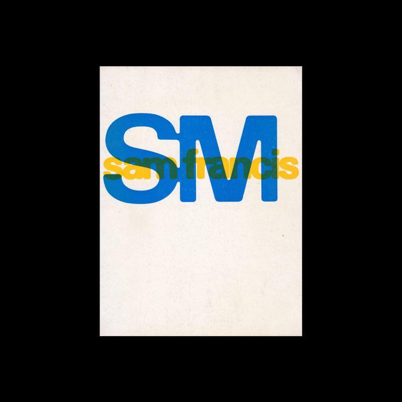 Sam Francis, Stedelijk Museum, Amsterdam, 1968 designed by Wim Crouwel and Jolijn van de Wouw (Total Design)