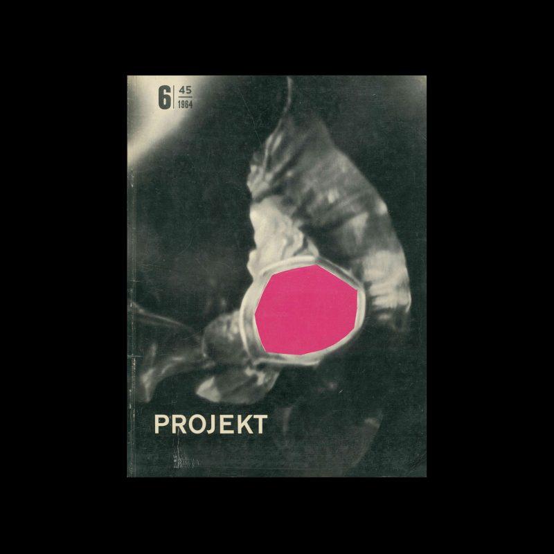 Projekt 45, 6, 1965. Cover design by Tadeusz Jodłowski