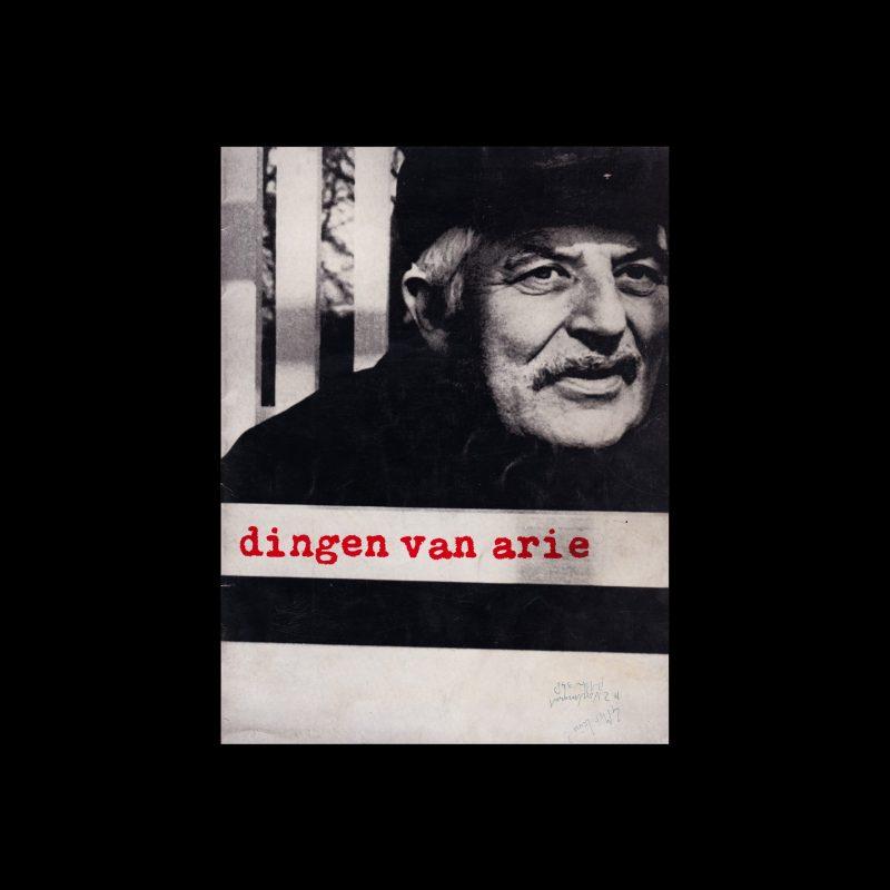 Dingen van Arie, Stedelijk Museum, Amsterdam, 1969 designed by Wim Crouwel and Jolijn van de Wouw (Total Design)