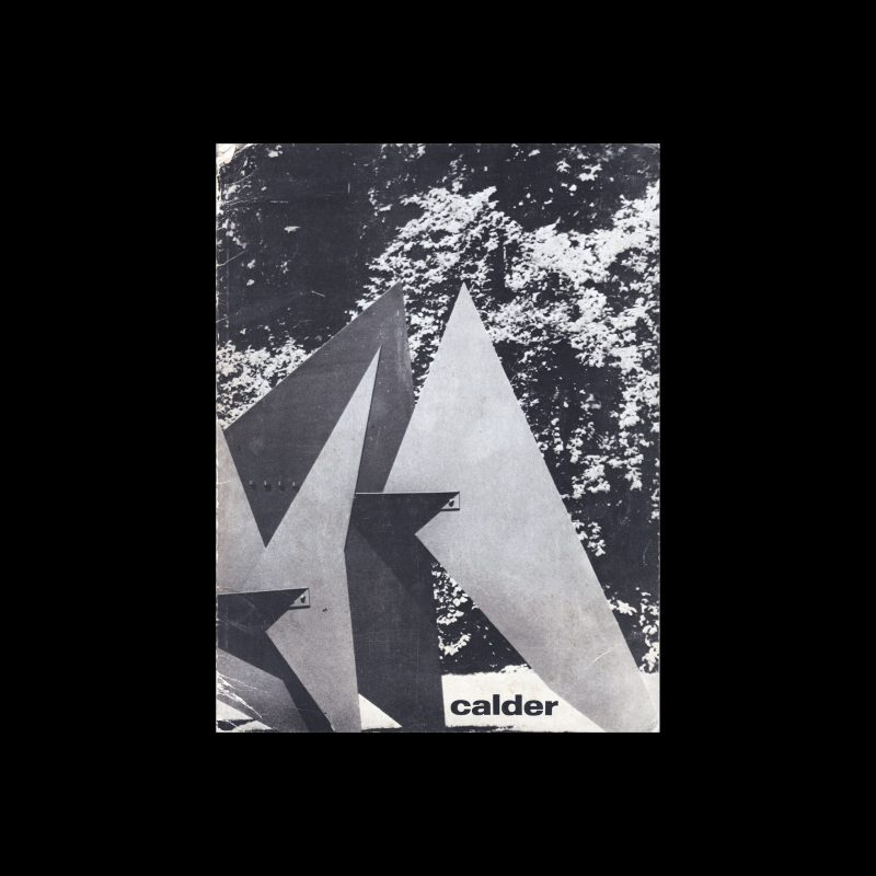 Calder, Stedelijk Museum, Amsterdam, 1969 designed by Wim Crouwel
