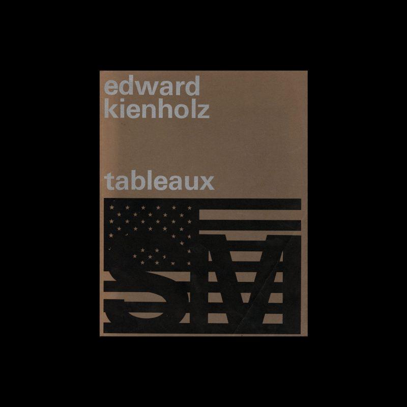 Edward Kienholz: tableaux, Stedelijk Museum, Amsterdam, 1970 designed by Wim Crouwel and Jolijn van de Wouw (Total Design)
