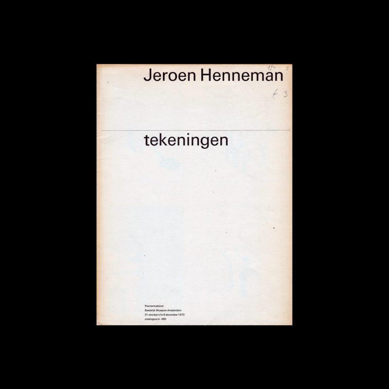 Jeroen Henneman, Stedelijk Museum, Amsterdam, 1970 designed by Wim Crouwel and Jolijn van de Wouw (Total Design)