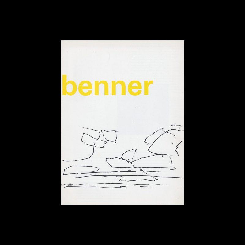 Gerrit Benner, Stedelijk Museum, Amsterdam, 1971 designed by Wim Crouwel (Total Design)