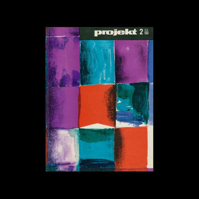 Projekt 52, 2, 1966. Cover design by Zbigniew Lutomski