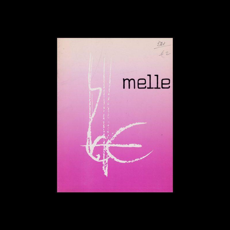Melle, Stedelijk Museum, Amsterdam, 1972 designed by Wim Crouwel (Total Design)