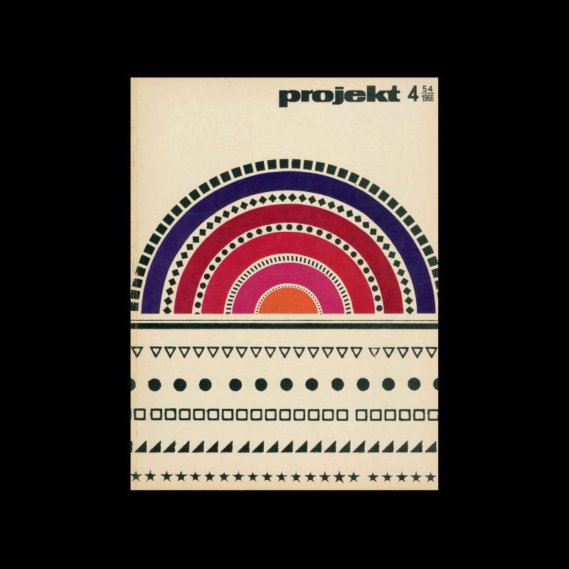 Projekt 54, 4, 1966. Cover design by Roman Cieślewicz