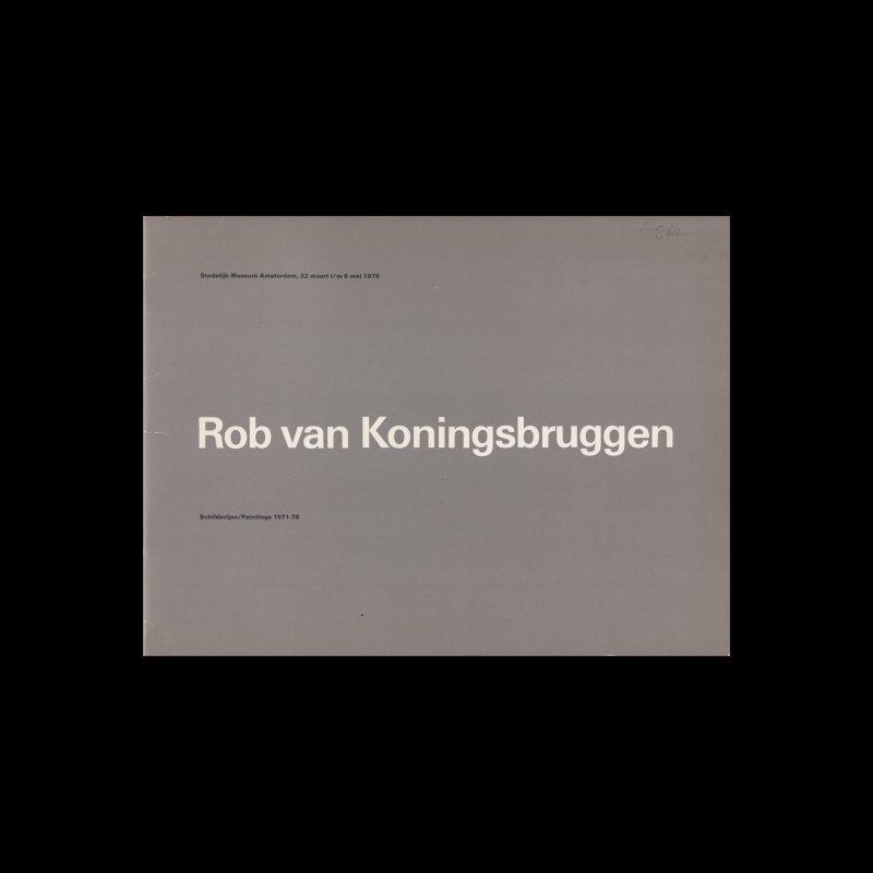 Rob van Koningsbruggen, Stedelijk Museum, Amsterdam, 1979 designed by Wim Crouwel (Total Design)