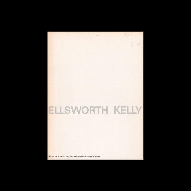 Ellsworth Kelly, Stedelijk Museum, Amsterdam, 1979 designed by Wim Crouwel and Artlette Brouwers (Total Design)