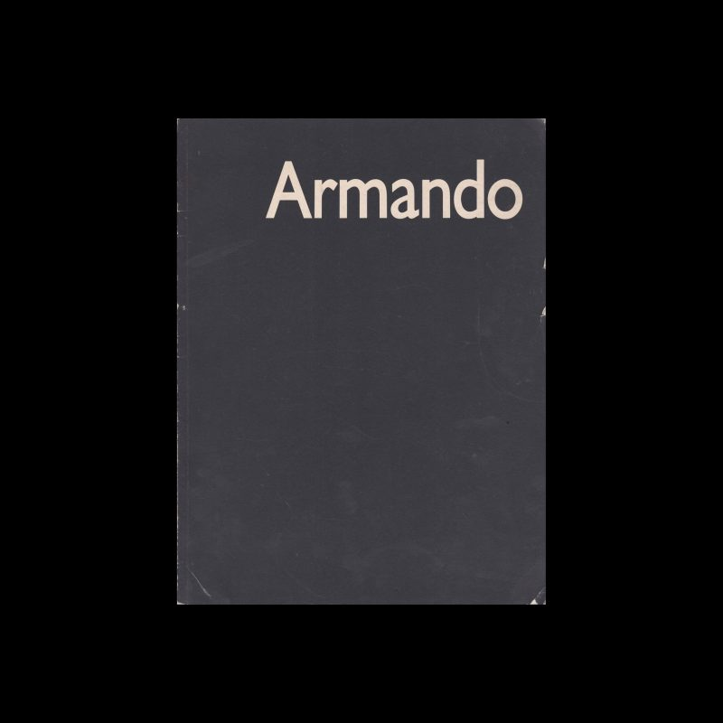 Armando, Stedelijk Museum, Amsterdam, 1982 designed by Walter Nikkels