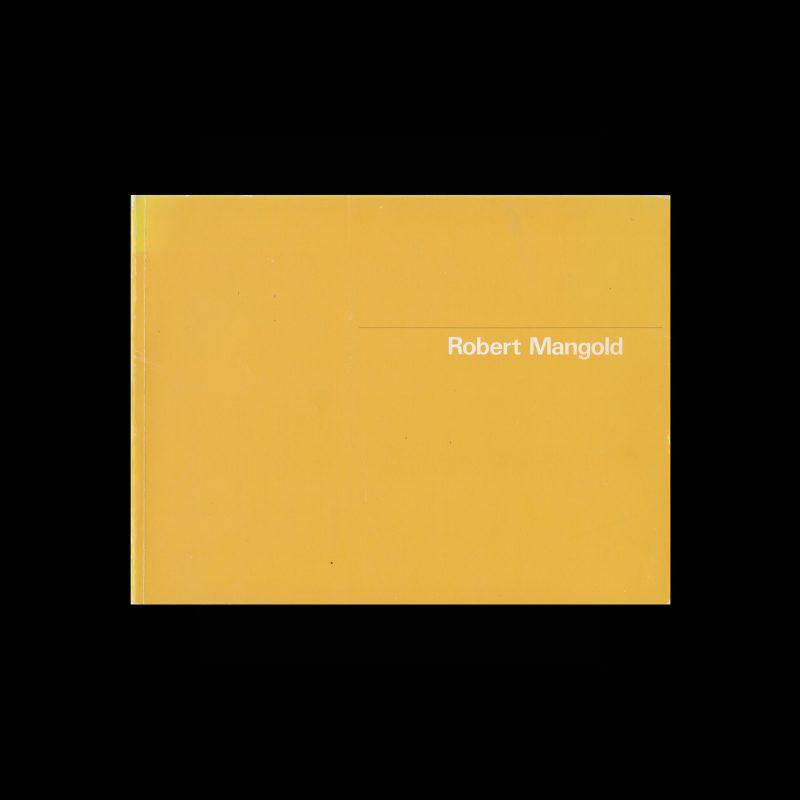 Robert Mangold, Stedelijk Museum, Amsterdam, 1982 designed by Wim Crouwel and Arlette Brouwers (Total Design)