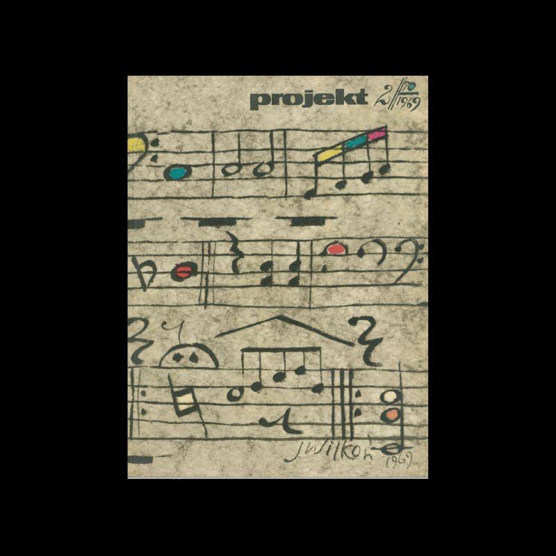 Projekt 70, 2, 1969. Cover design by Jozef Wilkon