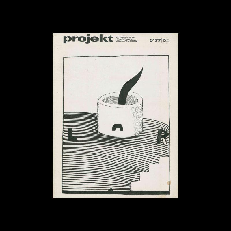 Projekt 120, 5, 1977. Cover design by Stanisław Dawski
