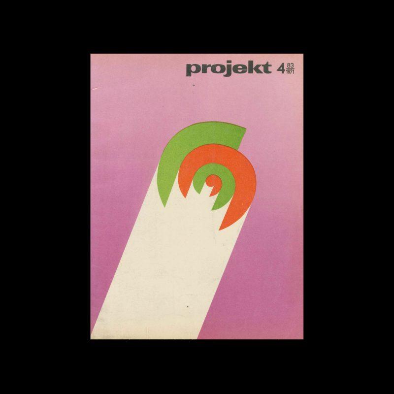 Projekt 83, 4, 1971. Cover design by Leszek Hołdanowicz