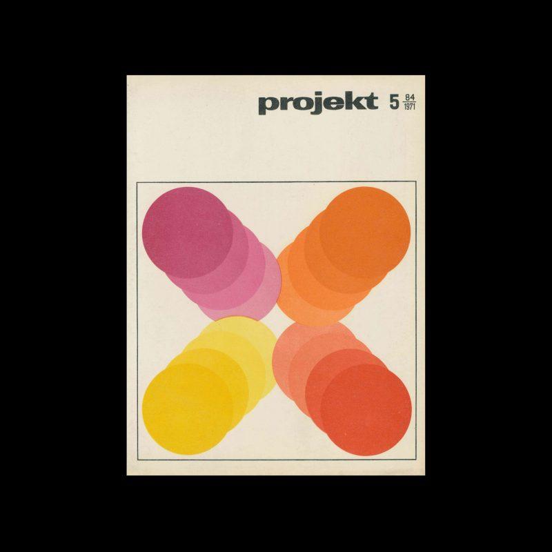 Projekt 84, 5, 1971. Cover design by Aleksandra Jachtoma