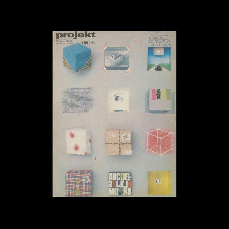 Projekt 160, 1, 1985. Cover design by István Orosz