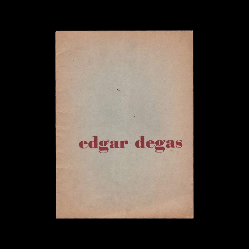 Edgar Degas, Stedelijk Museum Amsterdam, 1952 designed by Willem Sandberg