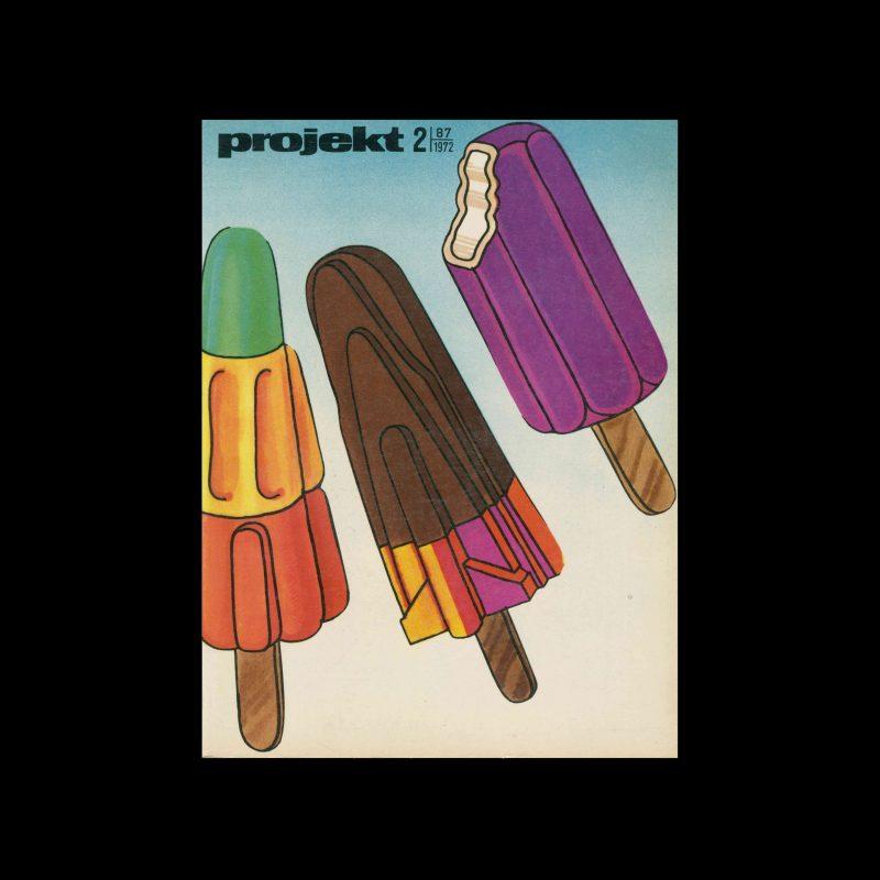Projekt 87, 2, 1972. Cover design by Roslaw Szaybo