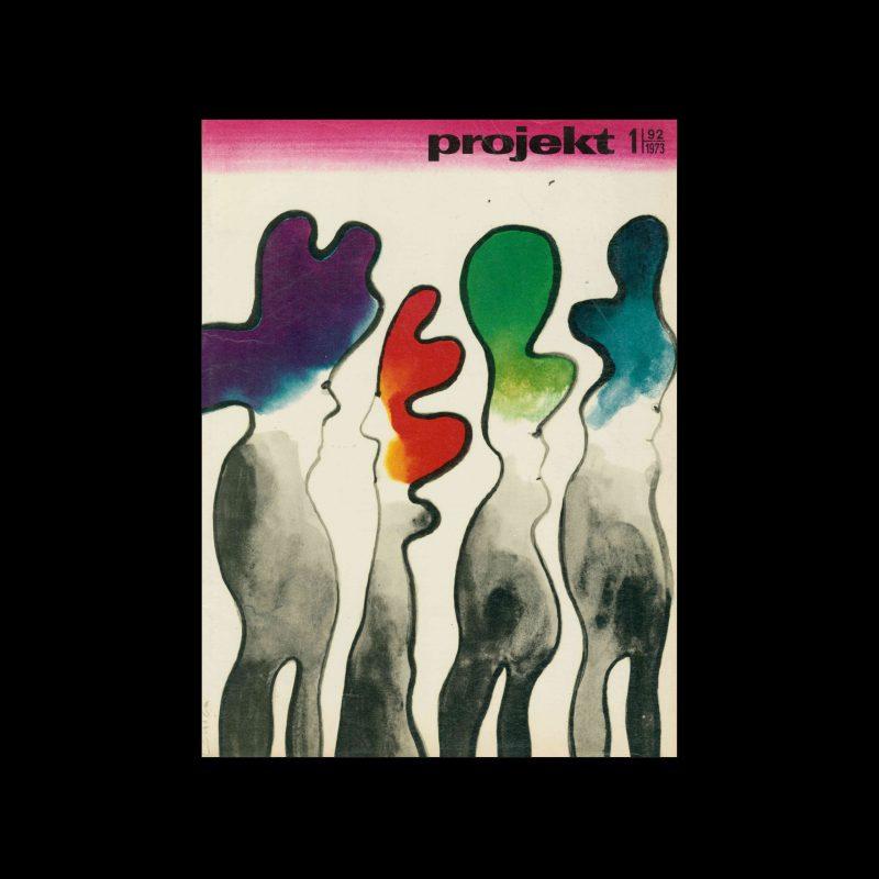 Projekt 92, 1, 1973. Cover design by Jan Lenica