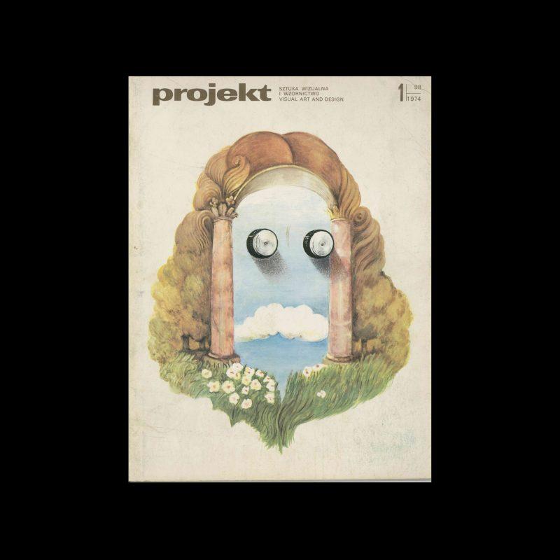 Projekt 98, 1, 1974. Cover design by Maciej Urbaniec
