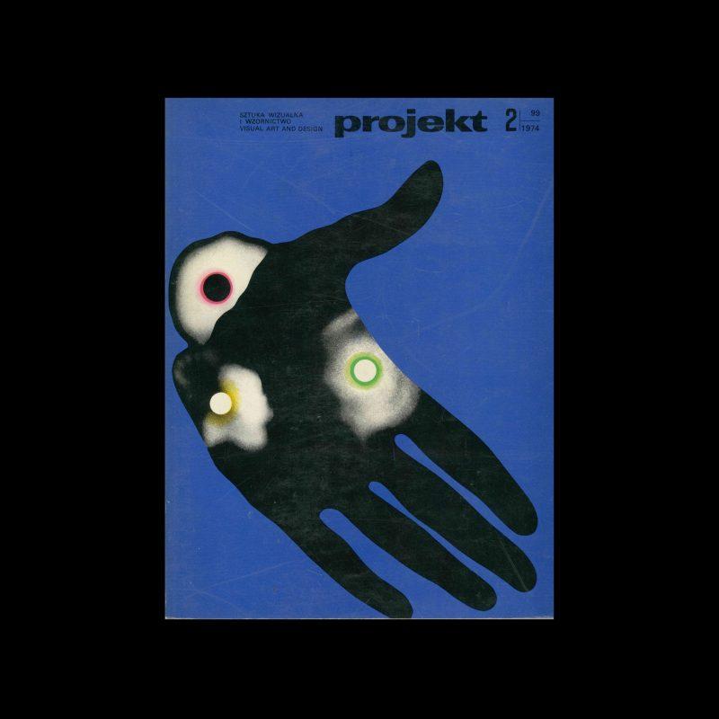 Projekt 99, 2, 1974. Cover design by Roman Cieślewicz