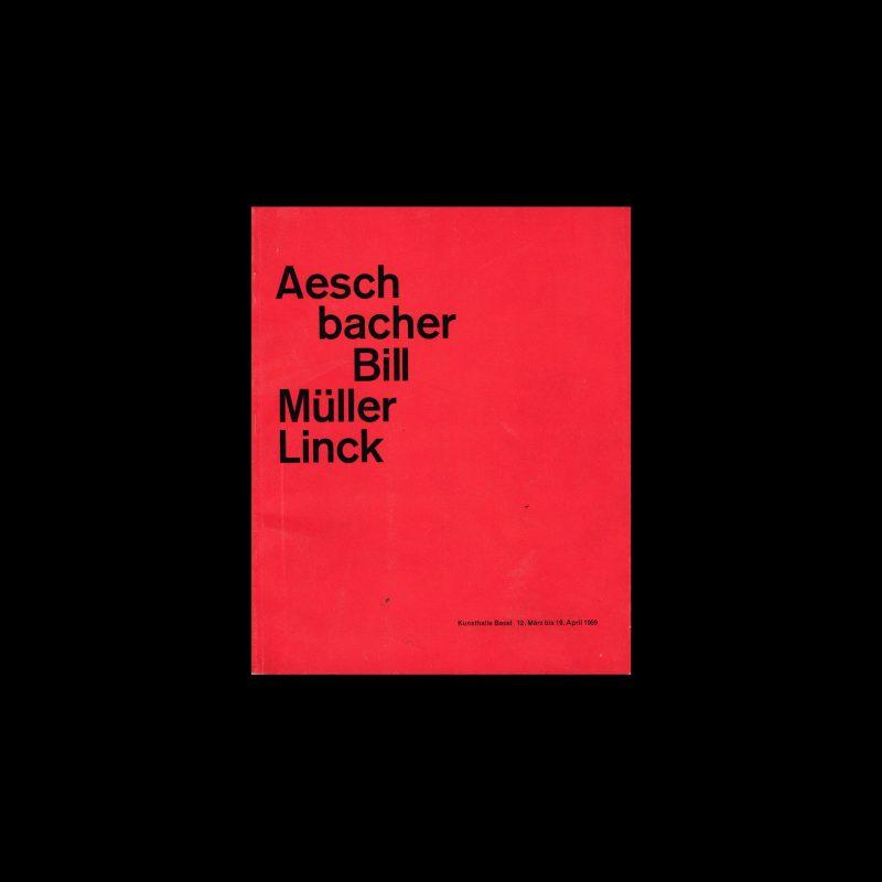 Aeschbacher – Bill – Müller – Linck, Kunsthalle Basel, 1959 designed by Armin Hofmann