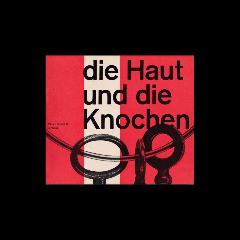 Atlas Filmheft 11 - Die Haut und die Knochen designed by Wolfgang Schmidt