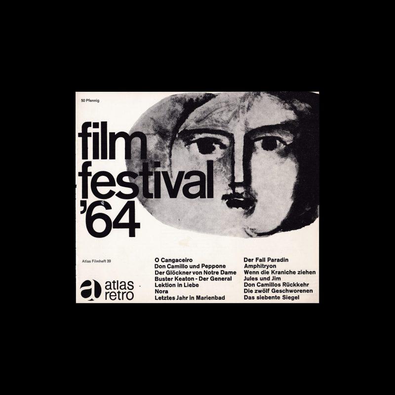 Atlas Filmheft 39 - Film Festival '64 designed by Karl Oskar Blase