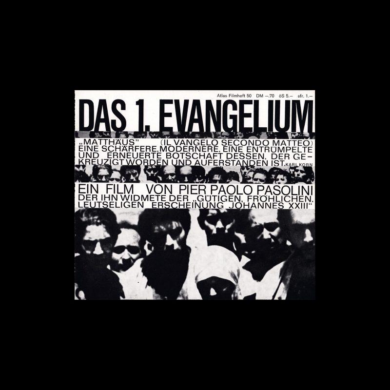 Atlas Filmheft 50 – Das 1. Evangelium designed by Hans Hillmann