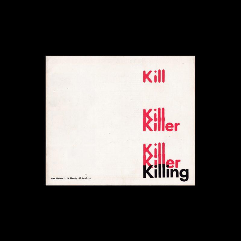 Atlas Filmheft 72 - The Killing designed by Wolfgang Schmidt