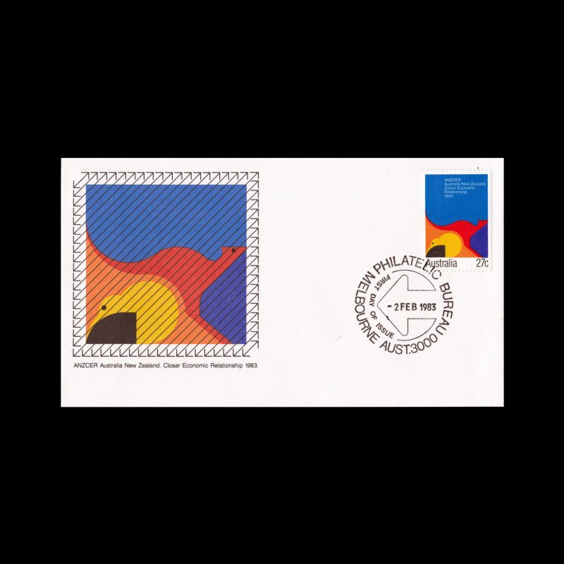Close Relationship Agreement New Zealand, Australia FDC, 1983