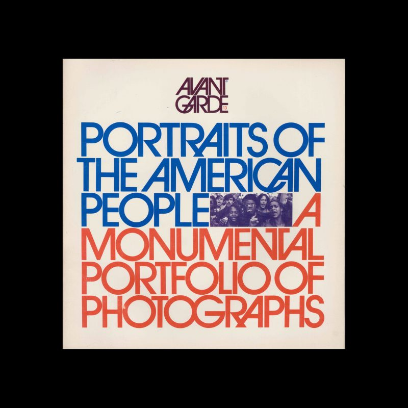 Avant Garde Volume 13, Spring 1971. Designed by Herb Lubalin