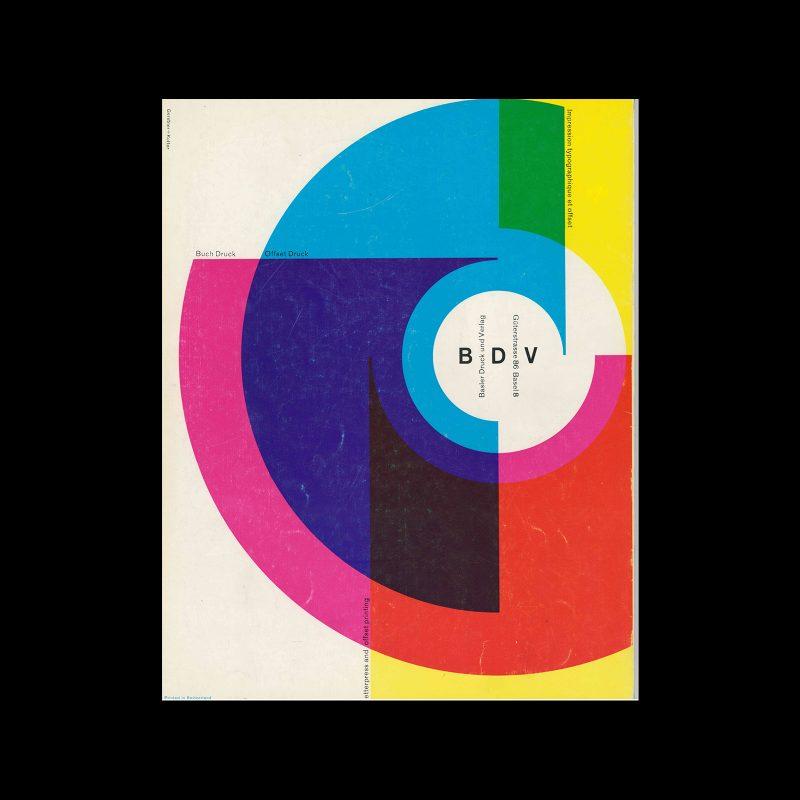 Basler Drunk and Verlag, Letterpress and Offset Printing, 1960. Designed by Gerstner+Kutter