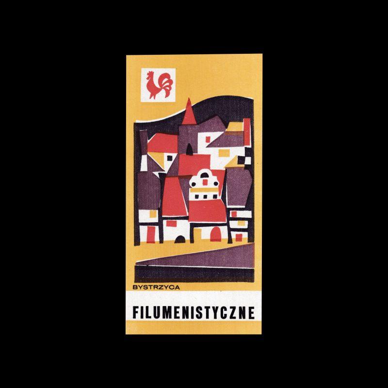 Bystrzyc 1971, large Polish Matchbox Label