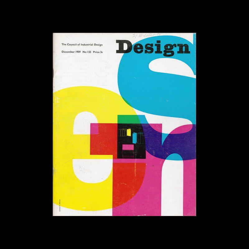 Design, Council of Industrial Design, 132, December 1959. Cover design by Ernest Hoch