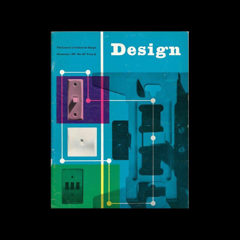 Design, Council of Industrial Design, 107, November 1957. Cover design by Reginald Mount