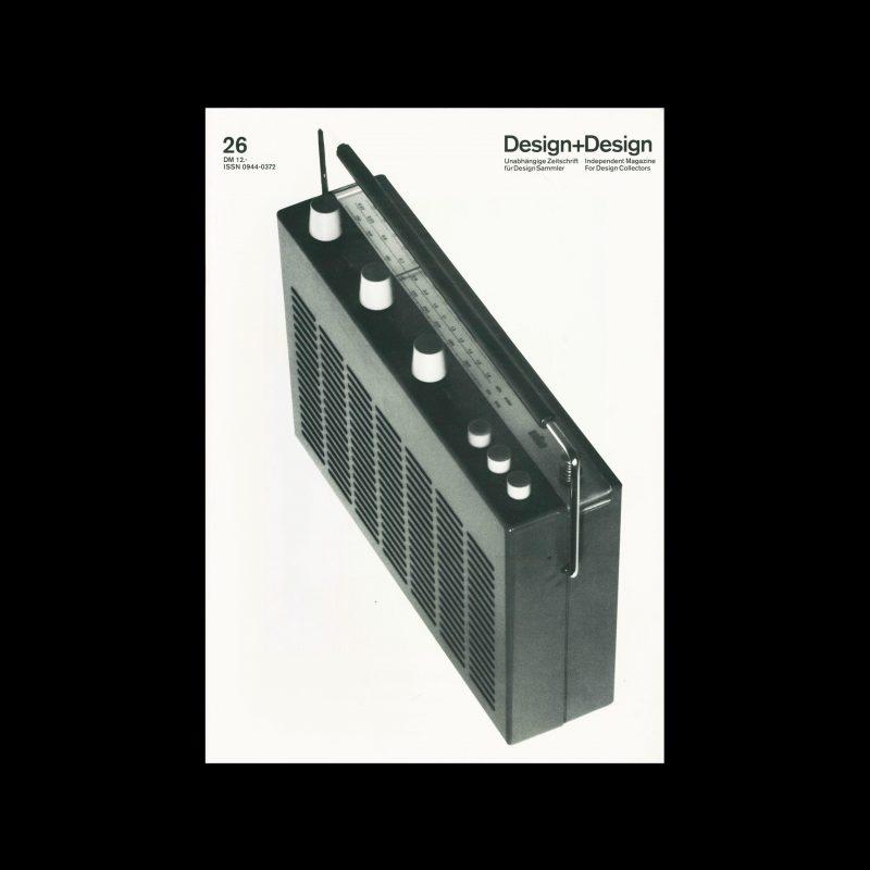 Design+Design, 26, 1993. Designed by Jo Klatt.