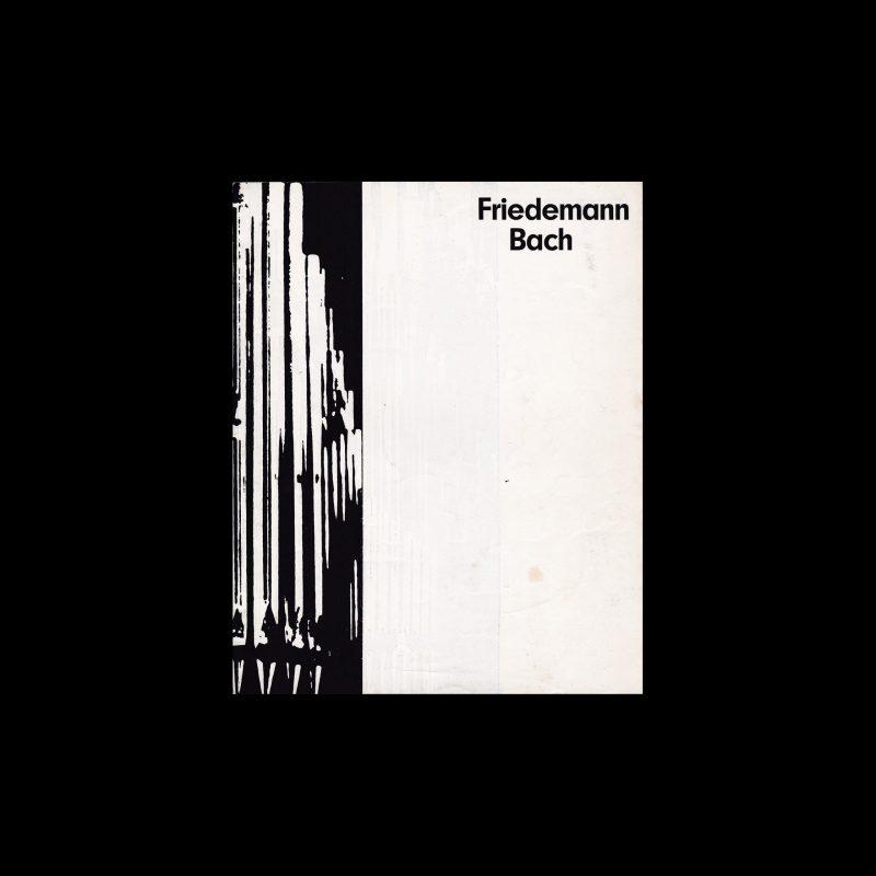 Friedemann Bach. Die Kleine Filmkunstreihe 12 designed by Wolfgang Schmidt