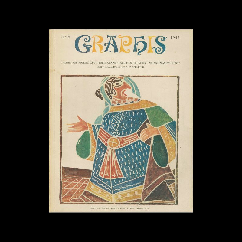 Graphis 11-12, 1945. Cover design by André Derain