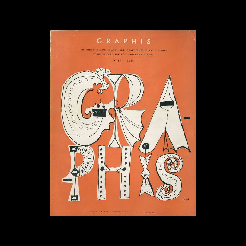 Graphis 13, 1946. Cover design by Imre Reiner