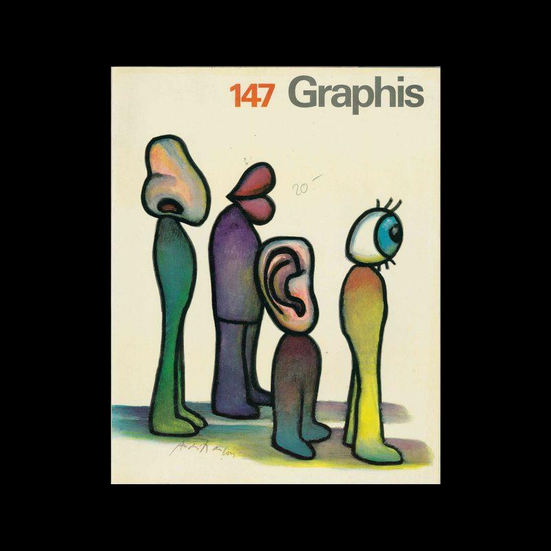 Graphis 147, 1970. Cover design by André François.