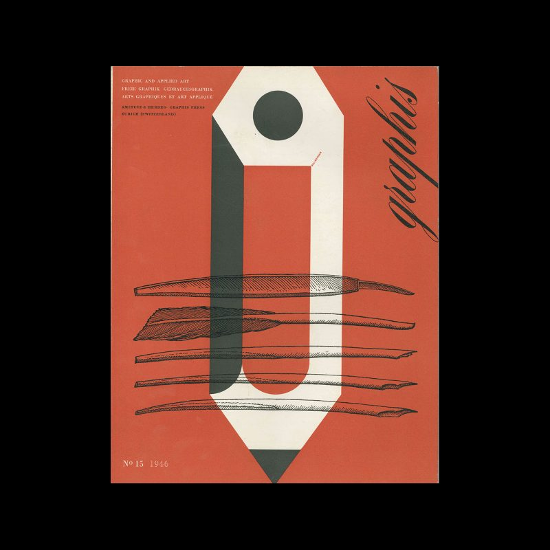 Graphis 15, 1946. Cover design by Paul Sollberger