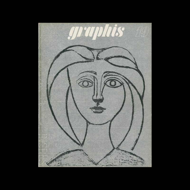 Graphis 19, 1947. Cover design by Pablo Picasso