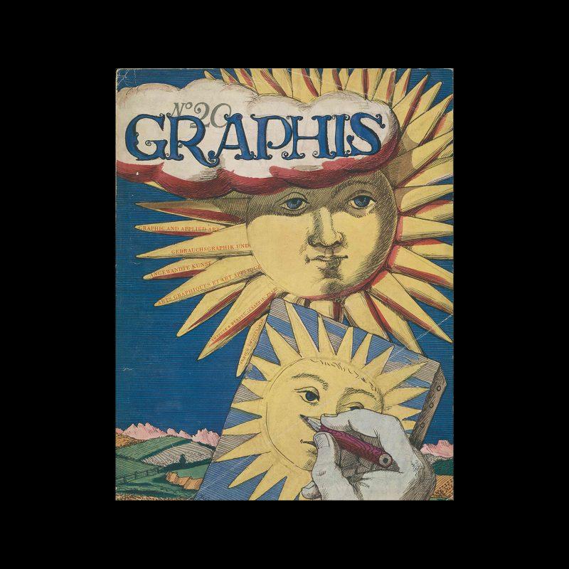 Graphis 20, 1947. Cover design by Piero Fornasetti