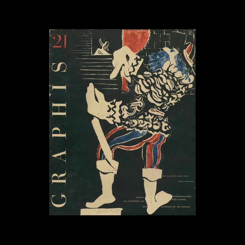 Graphis 21, 1948. Cover design by Jean-Denis Malclés
