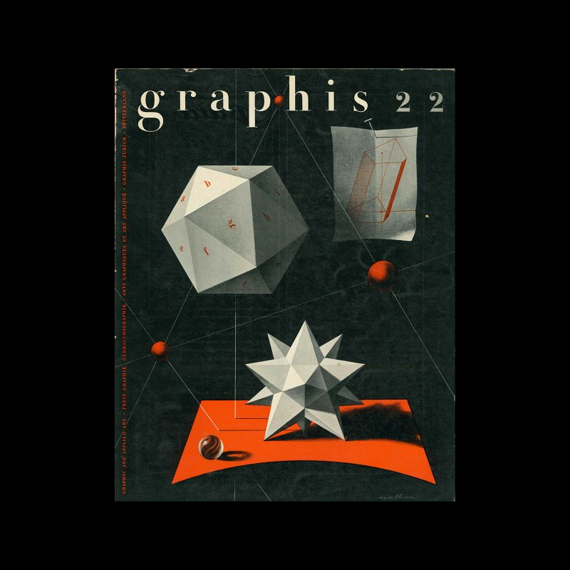 Graphis 22, 1948. Cover design by Jacques Nathan-Garamond