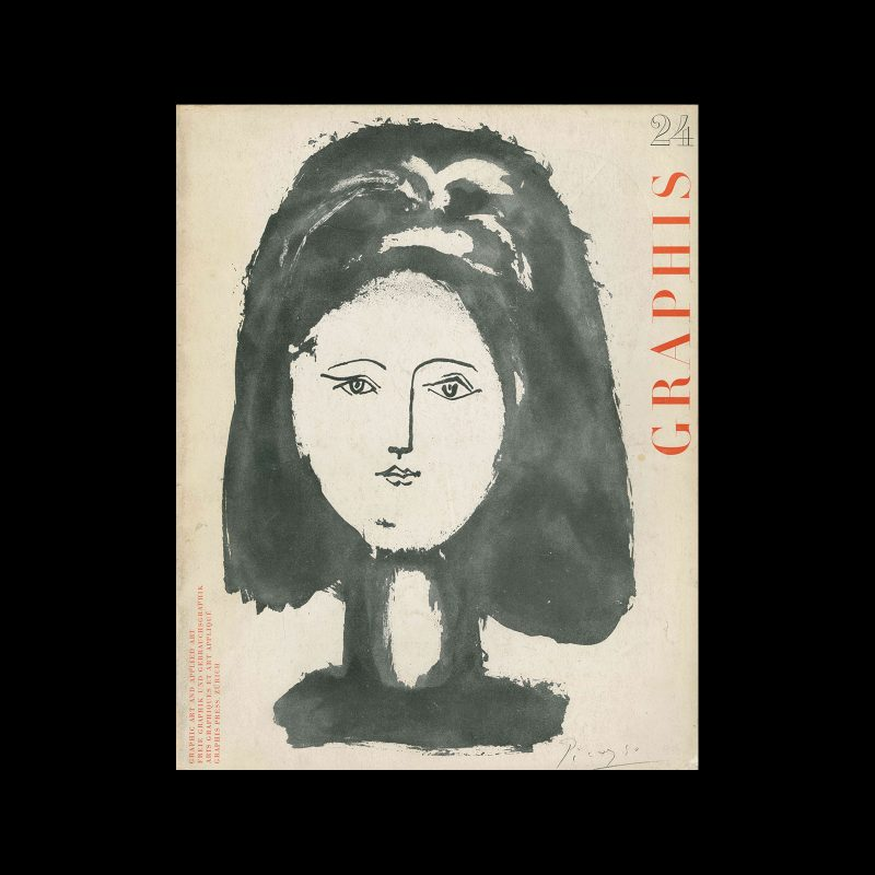 Graphis 24, 1948. Cover design by Pablo Picasso