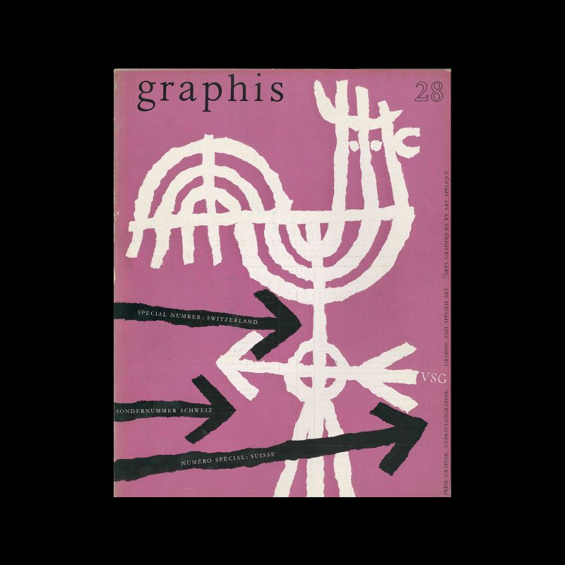 Graphis 28, 1949. Cover design by Hans Hartmann