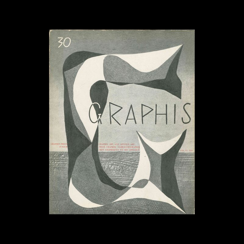 Graphis 30, 1950. Cover design by Jan Bons